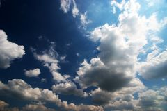 Clouds. White clouds on deep blue sky Stock Images