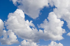 Clouds. On blue sky during spring time Stock Images