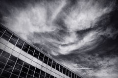 Clouds. Cloud formation above the city library of Oulu, Finland Stock Images