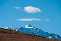 Clouds. The clouds above the snow-mountain Stock Photos