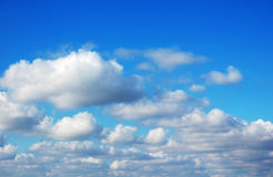 Clouds. A view of Blue sky and white clouds royalty free stock image
