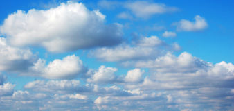 Clouds. A view of Blue sky and white clouds stock photos