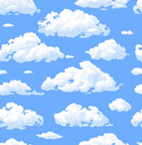Clouds. Seamless pattern with white clouds Stock Photos
