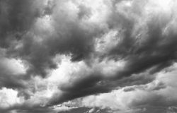Clouds. Heavy clouds rolling in the sky Royalty Free Stock Images