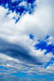 The clouds. The beautiful white clouds on background blue sky Stock Image