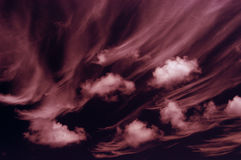 Clouds. Toned clouds Royalty Free Stock Photography
