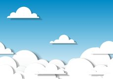 Clouds. Paper clouds. Seamless vector pattern Stock Image