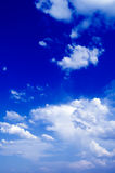 The clouds. The blue sky and white clouds Royalty Free Stock Photo