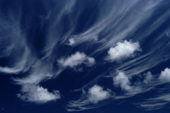 Clouds. At the sky Royalty Free Stock Photo