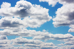 Clouds. In the blue sky Stock Image