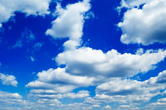 The clouds. The blue sky and clouds Stock Photos