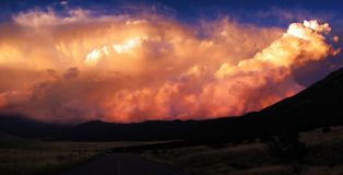 Clouds. Panorama of some dramatic clouds at sunset Royalty Free Stock Photo