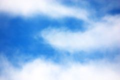 Clouds. White clouds in the blue sky Royalty Free Stock Image
