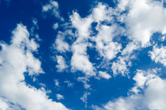 The clouds. The blue sky and beautiful white clouds Royalty Free Stock Photos
