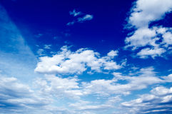 The clouds. The blue sky and beautiful white clouds Stock Images