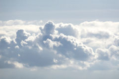 Clouds. Flying high above the clouds Royalty Free Stock Photo