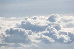 Clouds. Flying high above the clouds Stock Photography
