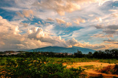 The Clouds. China's yunnan Province, Xishuangbanna Prefecture,Jinghong City,The Clouds Royalty Free Stock Image