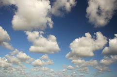 Clouds. White clouds on the deep blue sky Royalty Free Stock Photography