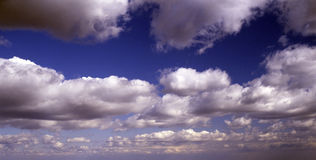 Clouds. Blue sky with white clouds Stock Photo