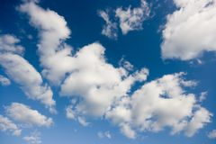 Clouds. In the blue sky royalty free stock photography