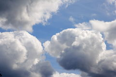 Clouds. The big storm clouds in the dark blue sky Stock Photo
