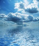 Clouds. Beautiful storm clouds reflection for sea Royalty Free Stock Image