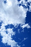 Clouds. View of nice deep blue color sky with white clouds Stock Images