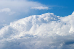 Clouds. The big storm clouds in the dark blue sky Royalty Free Stock Images