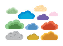 Clouds. Abstract colorful clouds, vector illustration Royalty Free Stock Photography