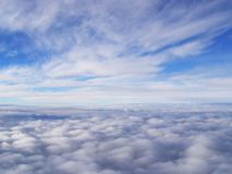 Clouds. White stratosphere clouds high in the sky Royalty Free Stock Photo
