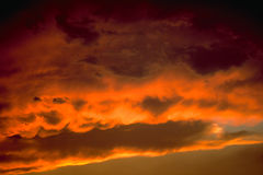 Clouds. At sunset stock photos