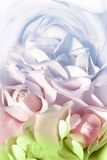 Clouds. Allegorical clouds in the form of roses Stock Photos