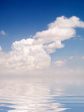 Clouds. And his reflect (digital Stock Images