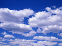 Clouds. Blue sky, white clouds Stock Photo