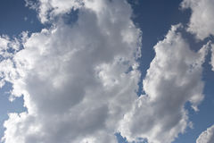 Clouds. Just clouds in sky, moving by wind Royalty Free Stock Photo