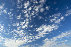 Clouds. Dispersed beautiful clouds on a blue sky stock photo