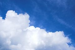 Clouds. Above the blue sky Royalty Free Stock Photos