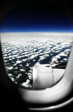 Clouds. White clouds. View from the window of the plane Royalty Free Stock Image