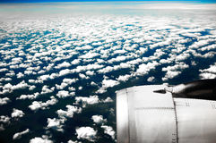 Clouds. White clouds. View from the window of the plane Stock Photography