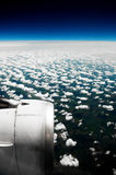 Clouds. White clouds. View from the window of the plane Stock Photos
