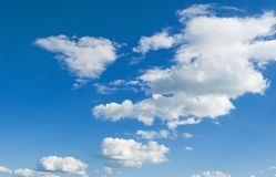Clouds. Large fluffy clouds in the sky Stock Photography