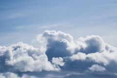 Clouds. Flying in the clouds Royalty Free Stock Image