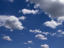 Clouds. Scattered in the sky stock image