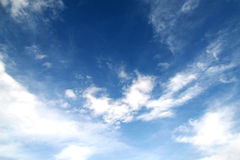 Clouds. Bright blue sky with white clouds Royalty Free Stock Photo