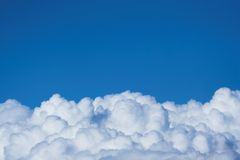 Clouds. Flying above the clouds Stock Image