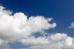 Clouds. Clear blue sky Royalty Free Stock Image