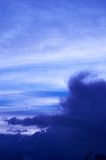 Clouds. In the evening Royalty Free Stock Photo