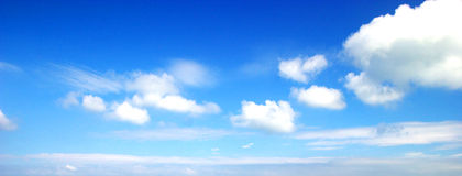 Clouds. Some cumulus mediocris clouds in  blue sky Royalty Free Stock Photos