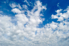 Clouds 8. White clouds are photographed on a background of the blue sky Stock Images